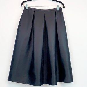 Talbot's Black Pleated Silk Full Skirt